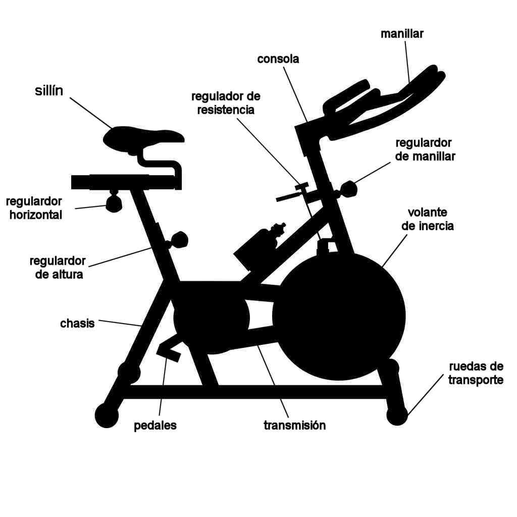 bicicleta estatica estructura